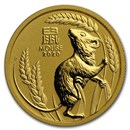 2020 Australia 1/4 oz Gold Lunar Mouse BU (Series 3)
